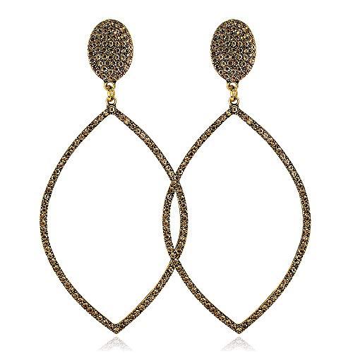 Aymsm Pendientes Personalidad, Pendientes Personalizados Grandes Diamantes Redondos, Pendientes Clásicos Salvajes Oro Antiguo