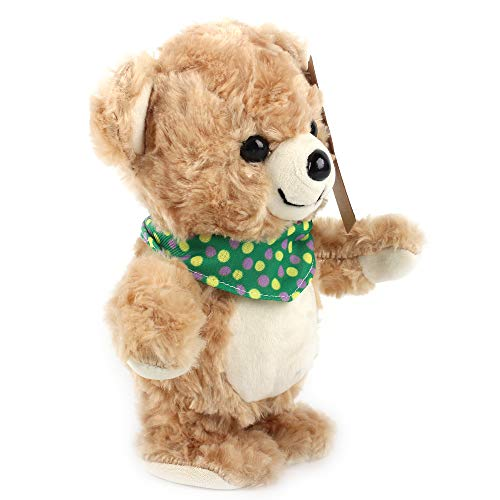 Zi Xi & Zi Qi 20CM Soft Plush Talking Walking Bear Doll,