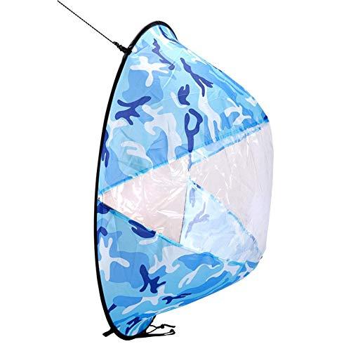 Euopat Vela de Kayak, Botes de remos Wind Fold Up Sail Deportes acuáticos Kayak Vela Especial Portátil Plegable Durable Adecuado para Kayaks Canoas y Botes inflables