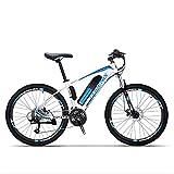 MIAOYO Bicicleta eléctrica de montaña para Adultos, Ruedas de 27 Pulgadas de 27 Pulgadas, batería de Litio de 36V, Marco de Acero de Alta Resistencia. Bicicleta eléctrica Offroad,b