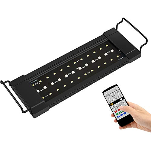 NICREW RGB Plus Aquarium Light, Freshwater Aquarium LED Light with Remote Controller, 24/7 Automated...