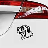 coche pegatina 15X13.7 cm calcomanía cabeza de perro jadeo mascota cachorro etiqueta engomada del coche decoración para el coche portátil ventana pegatina