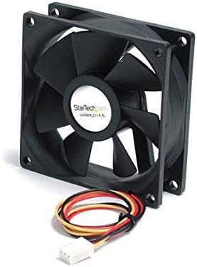 StarTech.com Quiet Dual Ball Bearing National uniform free New mail order shipping 8cm TX3 Conne with Case Fan