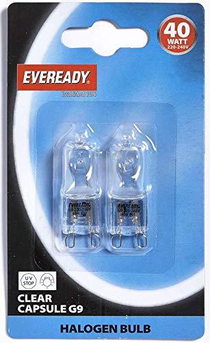 Netzspannung Halogenkapsel 40 W G9 Leuchtmittel Neue Doppelpack