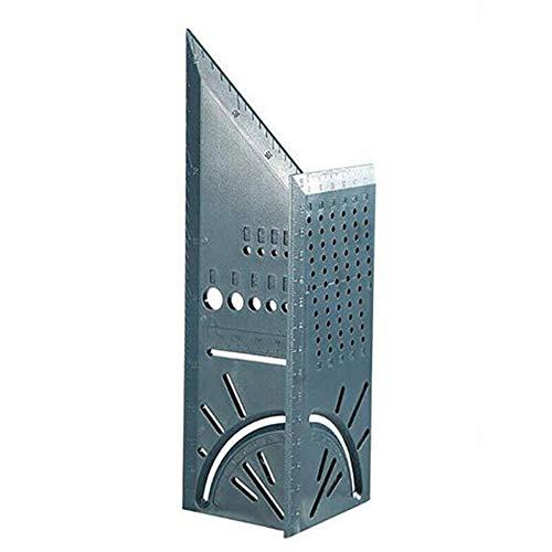 Multifunción Cuadrado exquisito 45 grados Regla de abs de 90 grados 3d Tipo de parada de carpintería Indicador Indicador de parada - Gris oscuro