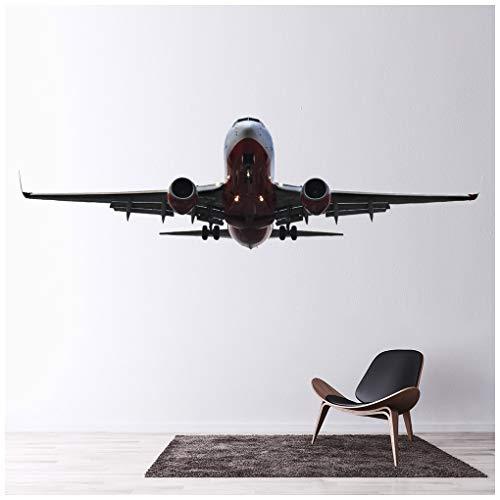 azutura Aviones Vinilos Avión de Aeroplano Pegatina Decorativos Pared Transporte Decoración del hogar Disponible en 8 Tamaños Mediano Digital