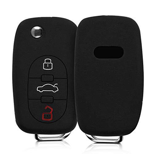 kwmobile Funda de Silicona Compatible con Audi Llave de Coche con Control Remoto de 3 Botones - Carc