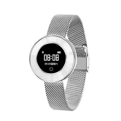 ZMEETY Smart Watch Für Frauen Mädchen Uhren X6 Smartwatch Herzfrequenz-Blutdruck-Sauerstoffmessgerät Womens Waterproof Smart Bracelet,Gold