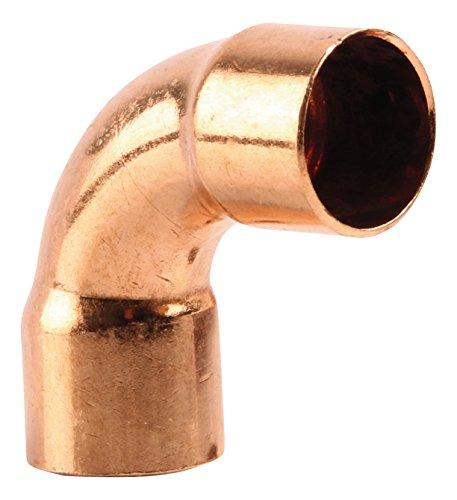Sanitop-Wingenroth 11392 2 Kupfer-Bogen Nummer 5002A, 90 Grad, 15 mm, 15 mm-10er Pack, 10 Stück