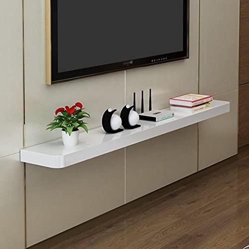 WXLW- shelf Cabinete de Soporte de TV Flotante Montado en Pared TV Estante de televisión TV Consola Unidad de Entretenimiento Multimedia Estante de Almacenamiento para la Oficina de la Sala de Estar