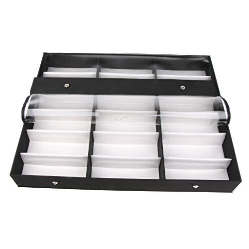 Bonarty - Caja de almacenamiento para gafas de sol (18,5 x 14,6 cm)