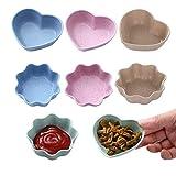 Guador Platos de Condimentos Forma de Corazón Forma de la Flor Creativo De Múltiples Fines Protección del Medio Ambiente Platos Aperitivos para Aperitivos Vinagre Alimentos Bocados Picar Canape