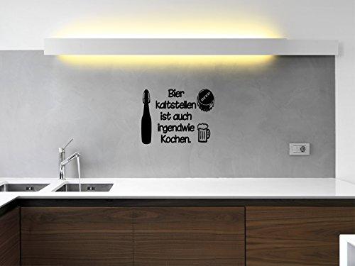 Comedy Wall Art Bier kaltstellen ist auch irgendwie Kochen. - Schwarz - ca. 80 x 60 cm