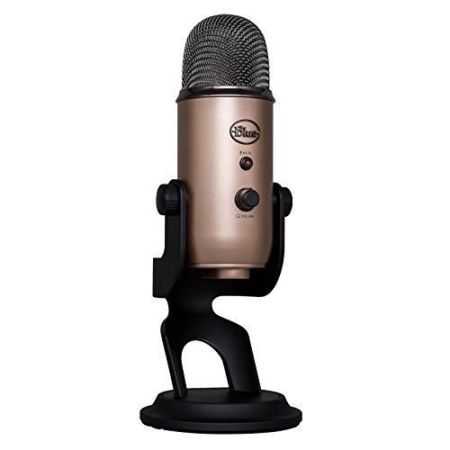 Blue Microphones Yeti - Micrófono USB para grabación y transmisión en PC y Mac, transmisión de juegos, llamadas de Skype, transmisión de Youtube, Plug and Play, color Marrón (Cobre Azteca)