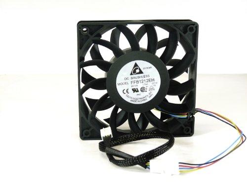 Delta Electronics FFB1212EH 120 x 120 x 25mm PWM Cooling Fan, 4000 RPM, 150.33 CFM, 56.4 dBA, 4-pin PWM connector