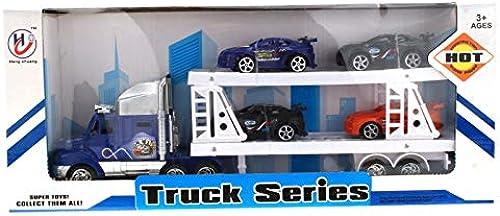 Kingdiscount 36 Stück fürzeuge Truck mit Anh er 39 cm