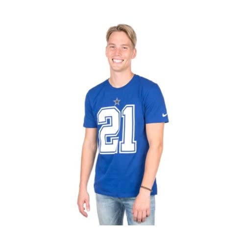 newest ae1a6 c0f7a Dallas Cowboys Shirt with Number: Amazon.com