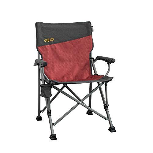 Uquip Roxy Campingstuhl mit Flaschenhalter - Stabile Ausführung bis 120 kg - Rot