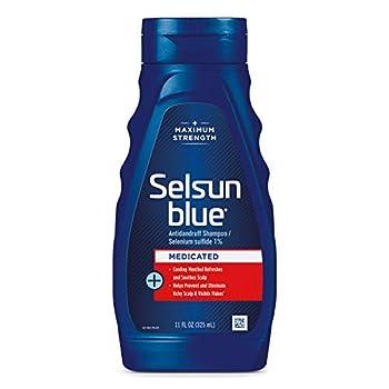 Selsun Blue Medicated Maximum Strength Dandruff Shampoo 11 Fl Oz Pack of 1  60632