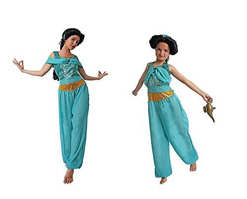 LBA Disfraz de Princesa Árabe, tipo Jasmín. Vestido y Diadema. Varias tallas.