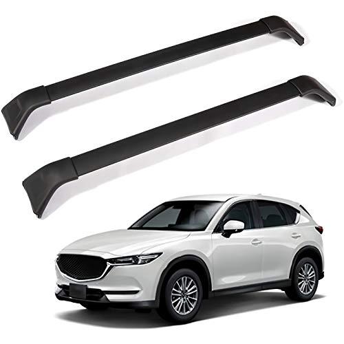 Qwldmj Portaequipajes de Techo para Mazda CX-5 CX5 2017 2018 2019 2020 Barras transversales Accesorios de Aluminio para automóviles portaequipajes Barras de Carga