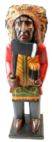 Cigar Indian Axe Hand Crafted Wooden Sculpture Cowboys Horseshoes Shotgun Old West Hunting