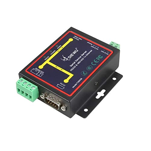 Miwaimao RJ45 to RS232 RS485 Industrial Male Converter TCP/UDP Serial RS232 RS485 to Ethernet Device Server