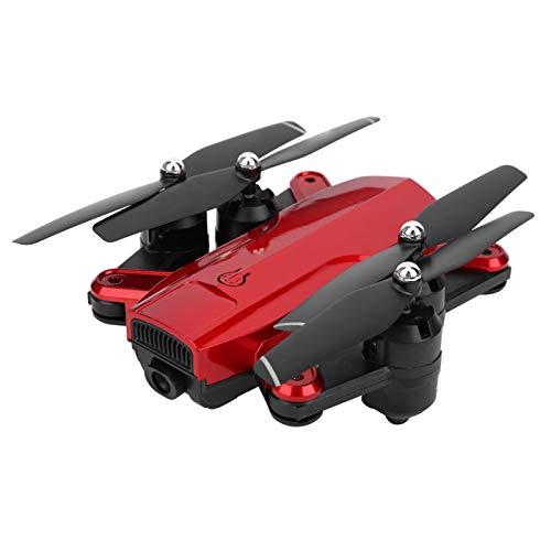 RC Drone GPS Drone Plegable óptico de Cuatro Ejes con función WiFi FPV Drones Smart Follow Drones Plegables(1080P Altitude Hold-Rojo)