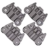 [UPGRADED] W10195416 Dishwasher Lower Wheel for Whirlpool GE KitchenAid Kenmore Dish Rack, for P/N: AP5983730 PS11722152 W10195416V W10195416VP (4 Pack)
