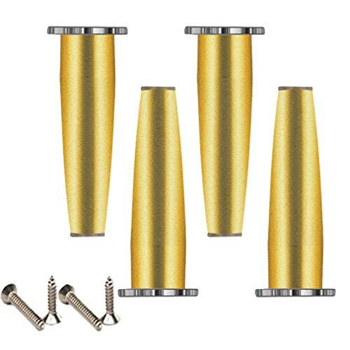 4 x meubelpoten, voeten van metaal, zinklegering, verstelbaar, 1,4 cm / 0,55 inch, steunpoten voor salontafel 80 mm