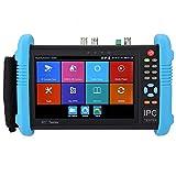 Probador de CCTV Tester Pantalla Táctil IPS de 7'' H.265 4K Probador de cámara IP Probador Analógico CCTV CVBS WiFi Incorporado con POE/WIFI/Tarjeta 8G TF/Salida HDMI/RJ45 TDR(IPC-9800ADHS Plus)