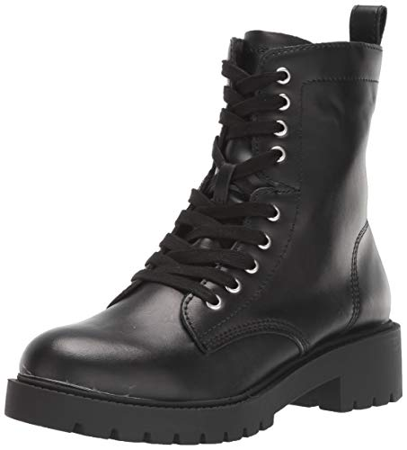 Steve Madden Women's Guided Fashion Boot, Black Leather, 8 M US