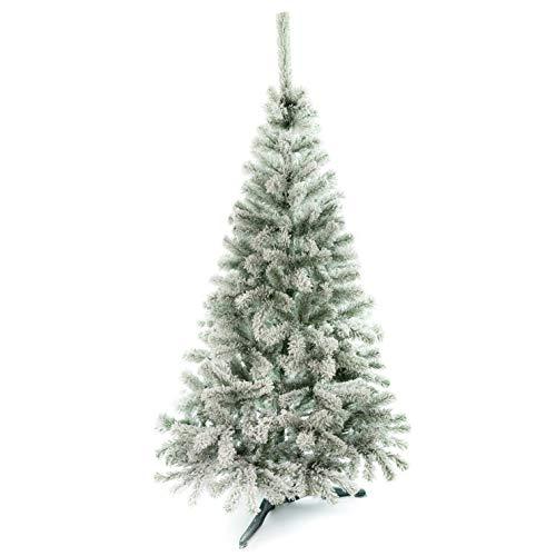 DecoKing Weihnachtsbaum Künstlich 150 cm grün mit Schnee Tannenbaum Christbaum Tanne Lena Weihnachtsdeko