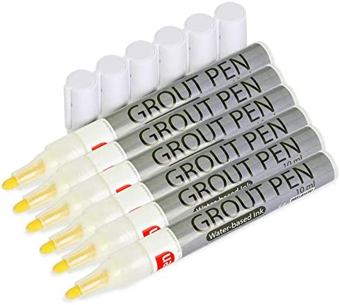 X Fasten Tile Grout Pen Restorer White 10 ml 6 Pack Non Toxic and Eco Friendly Anti Mould Tile product image