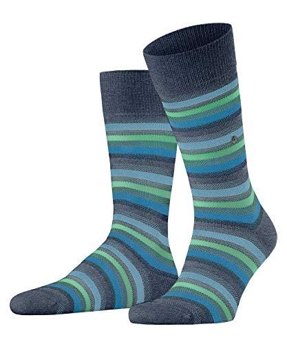 Burlington Herren Organic Stripe Socken, blau (Dark Blue Mel. 6688), 40-46