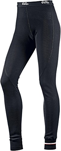 Odlo Long John Warm Pants Pantalones de Deporte, Mujer, Multicolor (Black 15000), 32 (Talla del Fabricante: Large)