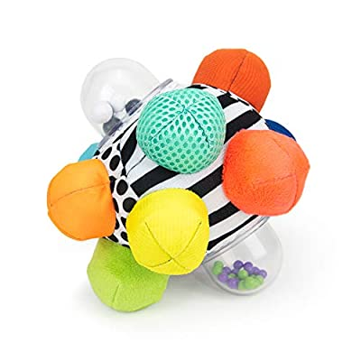 Sassy Developmental Bumpy Ball | Easy to Grasp Bumps Help Develop Motor Skills | for Ages 6 Months and Up | Colors May Vary from Sassy Baby, Inc