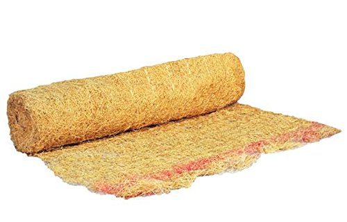 QuickGRASS PRO Erosion Control Blanket Roll with Biodegradable Staples 2-1/2'x50' Natural
