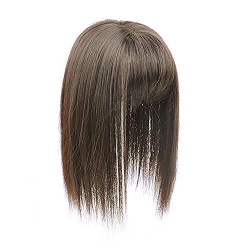 Remeehi Toupet à clipser avec frange 3D et cheveux synthétiques à l'aspect naturel pour cheveux fins