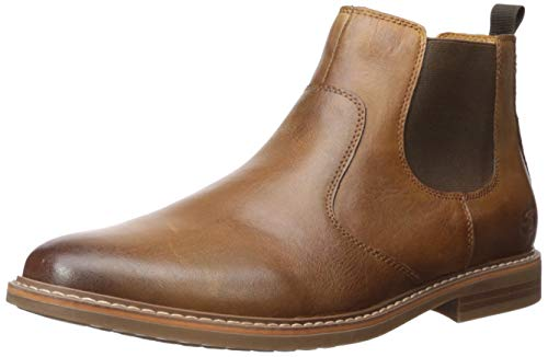 Skechers Men's Bregman-MODESO Street Dress Collection Chelsea Boot, Tan, 10.5 M US