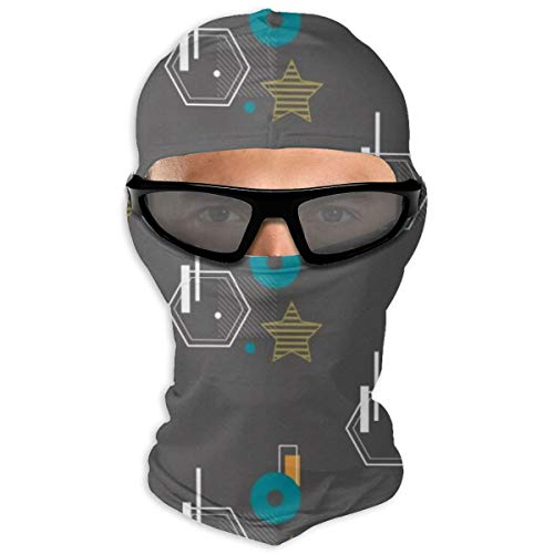 Nonebrand Free Bauhaus Muster Vollgesichtsmaske Sonnenschutz Winddichte Maske Motorradmaske Sturmhaube Hut Herren Damen Jugendliche Outdoor Sport Reiten Wandern Skifahren
