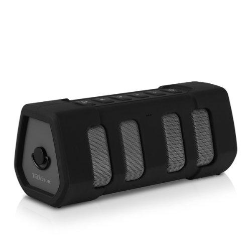 TrekStor PowerBoom mobile 175 (Outdoor Bluetooth Lautsprecher mit Freisprechfunktion, 2 x 10 Watt) schwarz