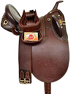 Open Store Australian Stock Genuine Leather Horse Saddle(Size 14'' to 19'' Inches)