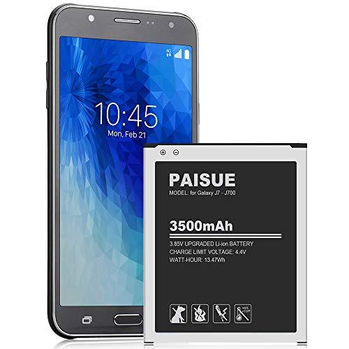 Galaxy J7 Battery, Upgraded 3500mAh Replacement Battery for Samsung Galaxy J7 SM-J700 (2015 Ver), J700T, J700H, J700M, J700T1, J700P, EB-BJ700BBC/EB-BJ700BBU [24 Month Warranty]