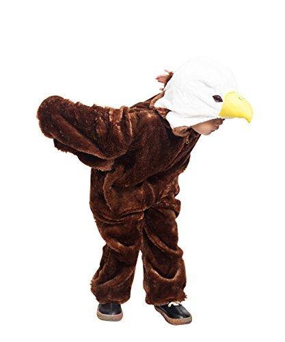 Ikumaal F125 Águila Disfraz Tallas 4-5 años, Disfraz Disfraces para niños Niño Niña, Adecuado para fasnacht, también como Regalo de cumpleaños o Navidad de Carnaval