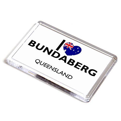 Unbekannt Kühlschrankmagnet – I Love Bundaberg – Queensland – Australien