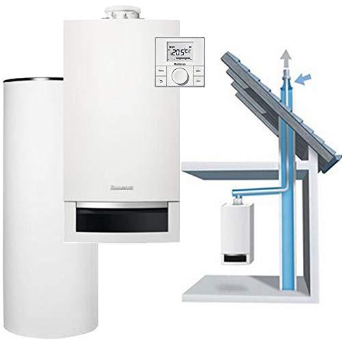 Buderus GB172-20 Paket Gasbrennwert - Regelung, Zubehör, Abgas GA-K, Speicher SNB160 Liter