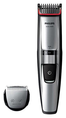 Philips BEARDTRIMMER Series 5000 Barbero BT5206/16 - depiladoras para la barba (0,4 mm, 7 mm, 0,2 mm, Negro, Acero inoxidable, 50 min, 1 h)