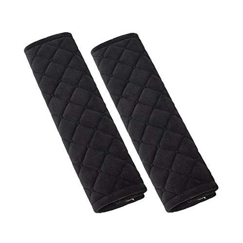 LLDDSS Cubiertas de cinturón de Seguridad de 2 unids Terciopelo Suave para Adultos para Adultos para jóvenes niños - Coche, camión, avión, Correas de Mochila de cámara (Color Name : Black)