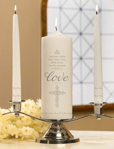 Unity Candles Faith, Hope and Love Set, 9 Inch x 3 Inch